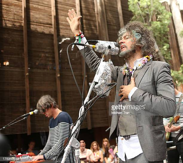 Wayne Coyne of The Flaming Lips performs at the Warner Bros Records 3rd Annual 'Summer Sessions' Flaming Lips held on August 2 2013 in Burbank...