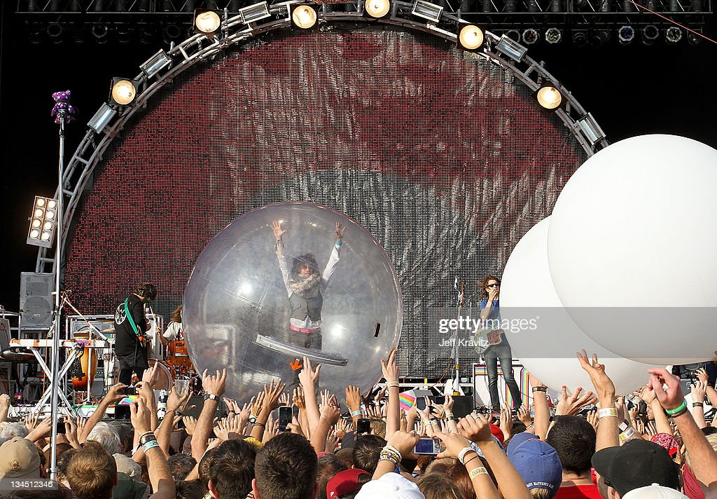 Wayne Coyne of The Flaming Lips performs during day one of Dave Matthews Band Caravan at Bader Field on June 24, 2011 in Atlantic City, New Jersey.