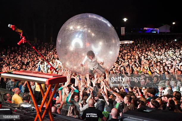 Wayne Coyne of The Flaming Lips performs during OFF Festival at Dolina Trzech Stawow on August 8 2010 in Katowice Poland