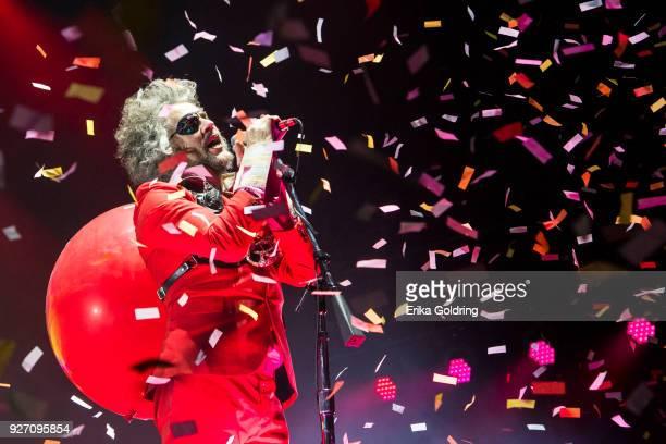 Wayne Coyne of The Flaming Lips performs during Okeechobee Festival at Sunshine Grove on March 3 2018 in Okeechobee Florida
