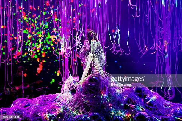 Wayne Coyne of The Flaming Lips performs during the 2014 BUKU Music Art Project at Mardi Gras World on March 22 2014 in New Orleans Louisiana