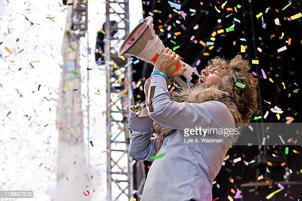 Wayne Coyne of The Flaming Lips performs during the Dave Matthews Band Caravan at Lakeside on July 10 2011 in Chicago Illinois
