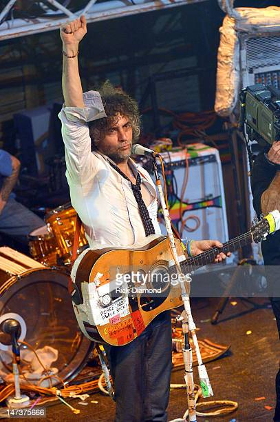 Wayne Coyne of The Flaming Lips performs during the MTV, VH1, CMT & LOGO O Music awards at the House of Blues on June 28, 2012 in New Orleans,...