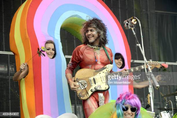 Wayne Coyne of the Flaming Lips performs during the Outside Lands Music Festival at Golden Gate Park on August 10 2014 in San Francisco California