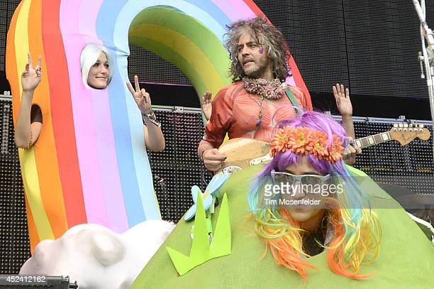 Wayne Coyne of the Flaming Lips performs during the Pemberton Music and Arts Festival at on July 19 2014 in Pemberton British Columbia