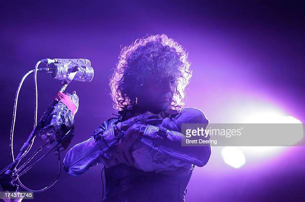 Wayne Coyne of the Flaming Lips performs during the Rock for Oklahoma Benefit at the Chesapeake Energy Arena on July 23, 2013 in Oklahoma City,...