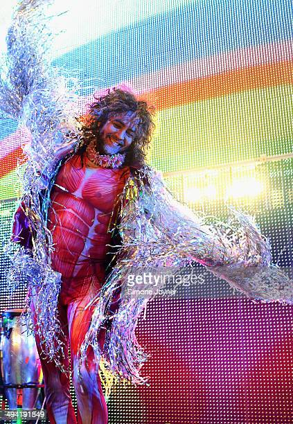 Wayne Coyne of The Flaming Lips performs live on stage at O2 Academy Brixton on May 28 2014 in London England