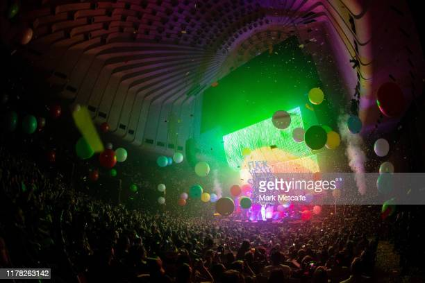 Wayne Coyne of the Flaming Lips performs live on stage at Sydney Opera House on September 30 2019 in Sydney Australia