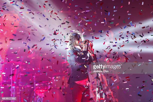 Wayne Coyne of The Flaming Lips performs on stage at Queen Elizabeth Theatre on May 15 2017 in Vancouver Canada