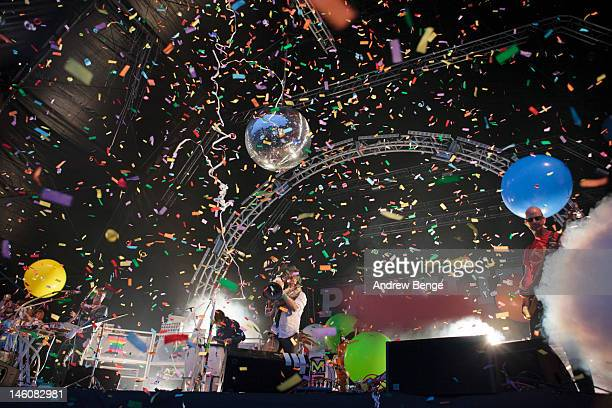 Wayne Coyne of The Flaming Lips performs on stage during Park Life Festival at Platt Fields Park on June 9 2012 in Manchester United Kingdom