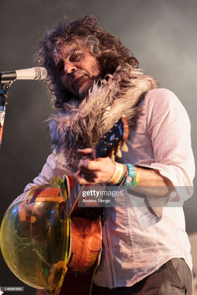 Wayne Coyne of The Flaming Lips performs on stage during Park Life Festival at Platt Fields Park on June 9, 2012 in Manchester, United Kingdom.