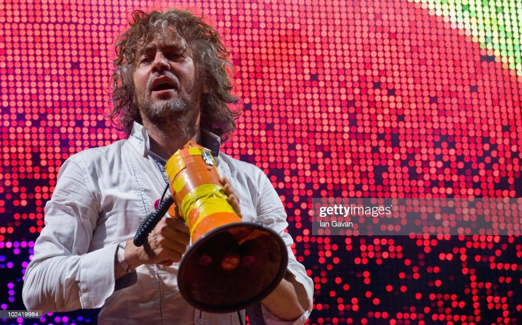 Wayne Coyne of the Flaming Lips performs on the Other Stage during Day 2 of the Glastonbury Festival on June 25, 2010 in Glastonbury, England. This year sees the 40th anniversary of the festival which was started by a dairy farmer, Michael Evis in 1970 and has grown into the largest music festival in Europe.