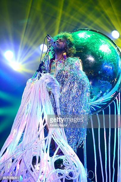 Wayne Coyne of The Flaming Lips performs onstage during the Amnesty International Concert presented by the CBGB Festival at Barclays Center on...