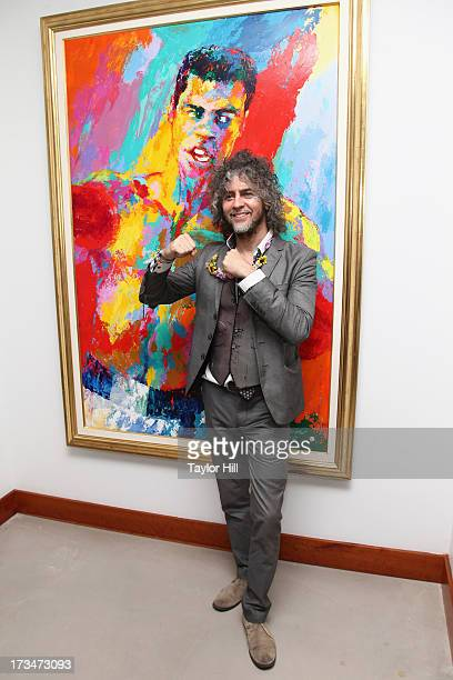 Wayne Coyne of The Flaming Lips tours the Muhammad Ali Center following his performance there on July 14 2013 in Louisville Kentucky