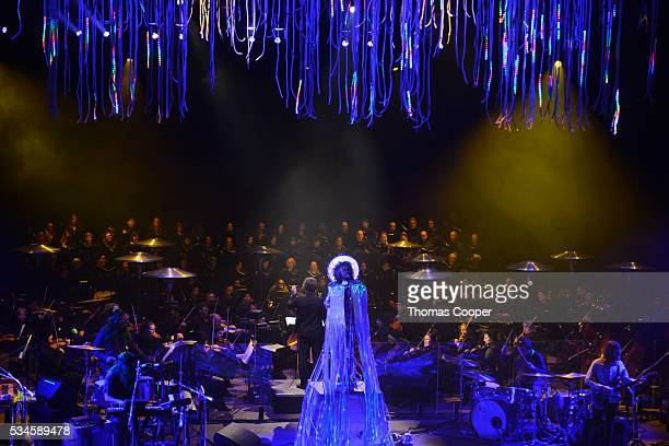 Wayne Coyne of the The Flaming Lips performs with The Colorado Symphony and conductor Andre de Ridder live at Red Rocks Amphitheatre on May 26 2016...