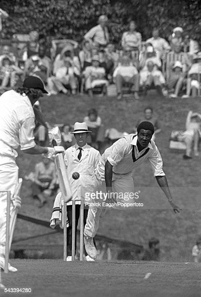 Wayne Daniel bowling for West Indies during the tour match between Lavinia Duchess of Norfolk's XI and West Indies at Arundel 8th May 1976