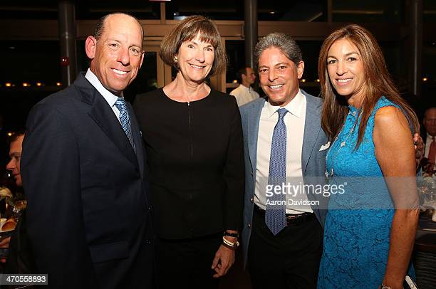 Wayne E Chaplin Carolyn Wente Bill Terlato and Arlene Chaplin attend FIU Teaching Restaurant Inaugural Dinner hosted by Mark Militello Norman Van...