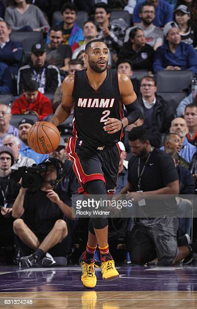 Wayne Ellington of the Miami Heat brings the ball up the court against the Sacramento Kings on January 4 2017 at Golden 1 Center in Sacramento...
