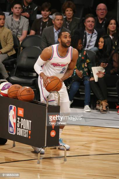 Wayne Ellington of the Miami Heat shoots the ball during the JBL ThreePoint Contest during State Farm AllStar Saturday Night as part of the 2018 NBA...