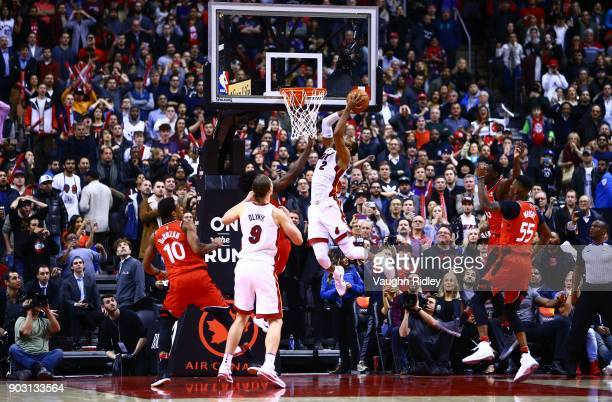 Wayne Ellington of the Miami Heat shoots the ball with seconds to go and Miami win the game late in the second half of an NBA game against the...