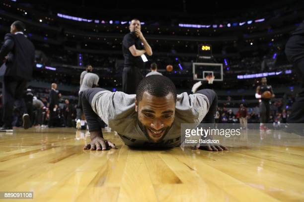 Wayne Ellington of the Miami Heat warms up before the game against the Brooklyn Nets as part of the NBA Mexico Games 2017 on December 9 2017 at the...