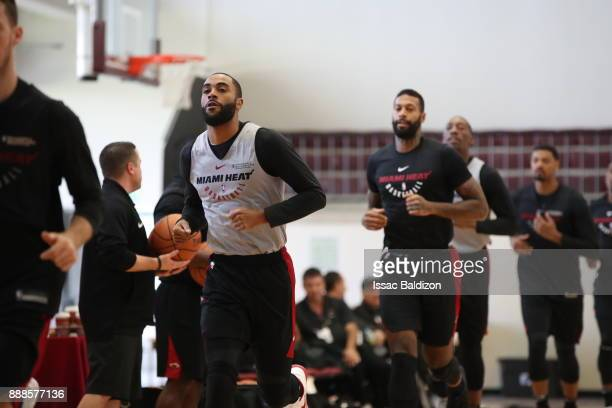 Wayne Ellington of the Miami Heat warms up during practice as part of the NBA Mexico Games 2017 on December 8 2017 at the American School in Mexico...