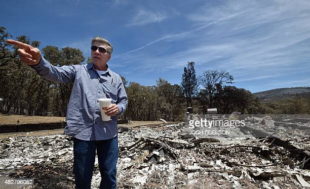 Wayne Fischer describes what his home used to look like before it was burned to the ground by the Rocky fire near Clear lake California on August 02...