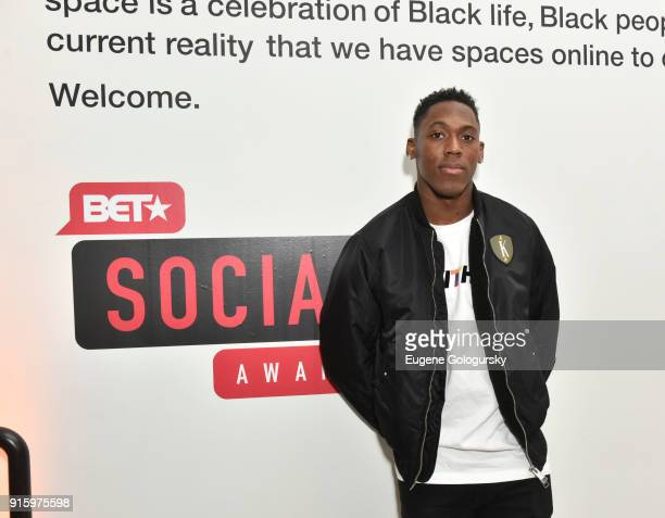 Wayne Gallman attends the BET NETWORKS Hosting of the Opening Night Reception For 'THE MUSEUM OF MEME' In Celebration Of 'THE BET SOCIAL AWARDS' at...