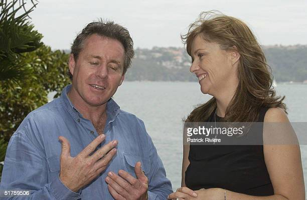 "Wayne Gardner and Donna Gardner at the launch of ""Leather"" by Donna Gardner, at Windemere in Sydney where she lives with current partner Johnny..."