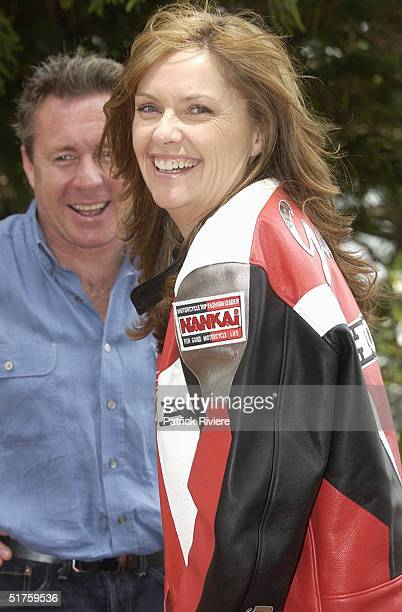"Wayne Gardner and Donna Gardner at the launch of ""Leathers"" by Donna Gardner, at Windemere in Sydney where she lives with current partner Johnny..."