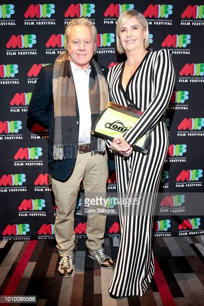 Wayne Gardner and Donna Kahlbetzer attends the world premiere of Wayne during the Melbourne International Film Festival 2018 on August 3 2018 in...
