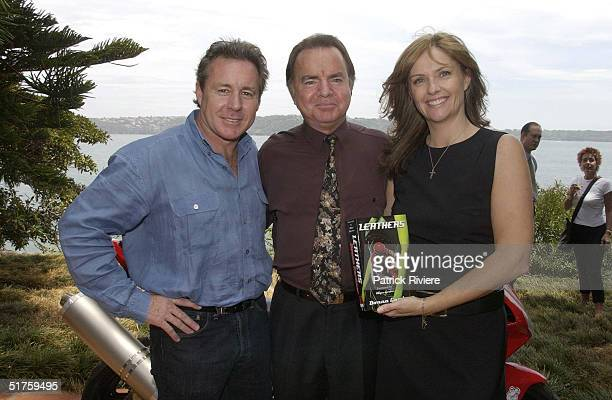 Wayne Gardner publisher Kerry Collison and Donna Gardner at the launch of Leathers by Donna Gardner at Windemere in Sydney where she lives with...