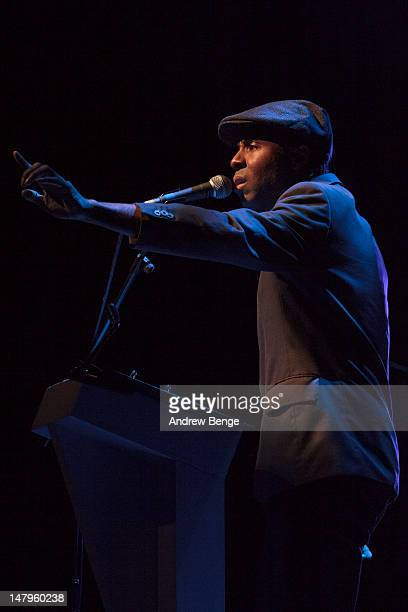 Wayne Gidden performs on stage at Salford Lowry on July 6, 2012 in Manchester, United Kingdom.