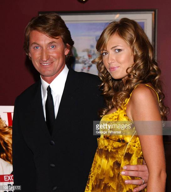 Wayne Gretzky and daughter Paulina Gretzky during Paulina and Wayne Gretzky at Flare Magazine Release Party at Wayne Gretzky's in Toronto Ontario...