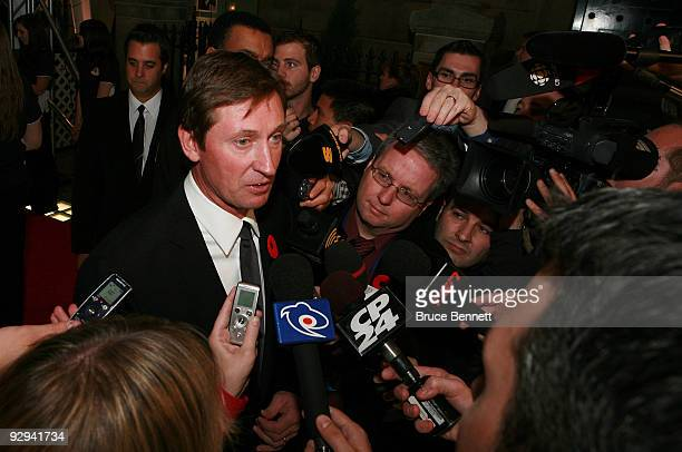 Wayne Gretzky attends the Hockey Hall of Fame Induction ceremony at the Hockey Hall of Fame on November 9 2009 in Toronto Canada