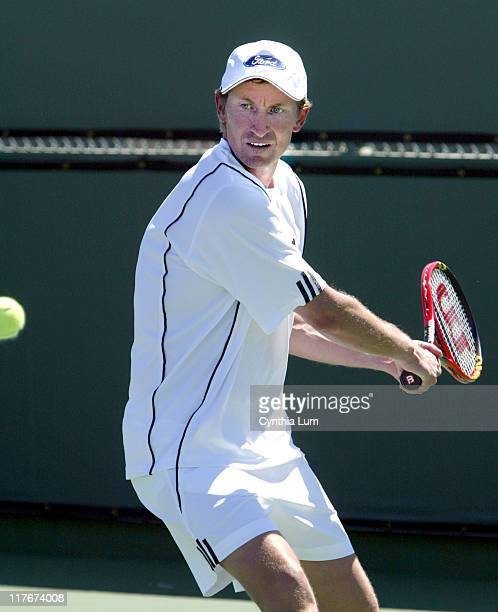 Wayne Gretzky during Pro Am Tournament to Benefit the Prostate Cancer Foundation - March 23, 2004 at Indian Wells Tennis Gardens in Indian Wells,...