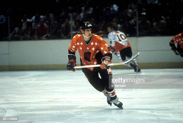 Wayne Gretzky of the Campbell Conference and the Edmonton Oilers skates on the ice during the 1982 34th NHL AllStar Game against the Wales Conference...