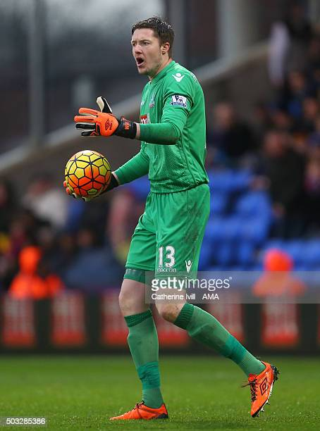 Wayne Hennessey of Crystal Palace during the Barclays Premier League match between Crystal Palace and Chelsea at Selhurst Park on January 3 2016 in...