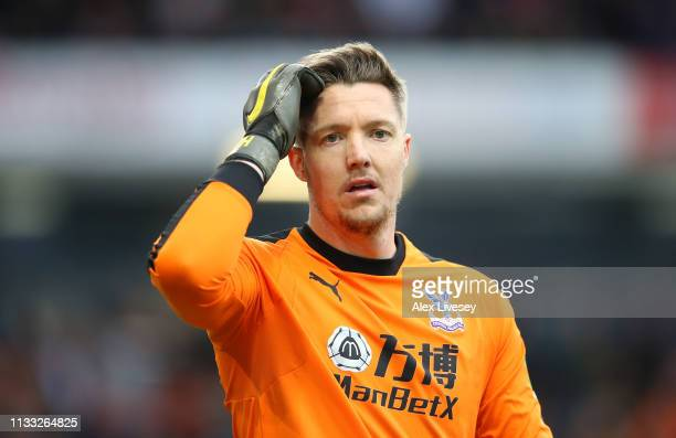 Wayne Hennessey of Crystal Palace during the Premier League match between Burnley FC and Crystal Palace at Turf Moor on March 02 2019 in Burnley...