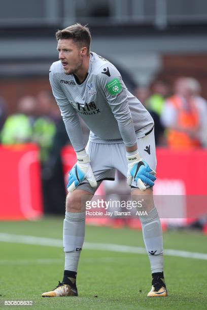 Wayne Hennessey of Crystal Palace during the Premier League match between Crystal Palace and Huddersfield Town at Selhurst Park on August 12 2017 in...