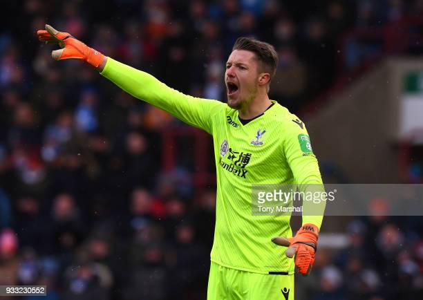 Wayne Hennessey of Crystal Palace during the Premier League match between Huddersfield Town and Crystal Palace at John Smith's Stadium on March 17...