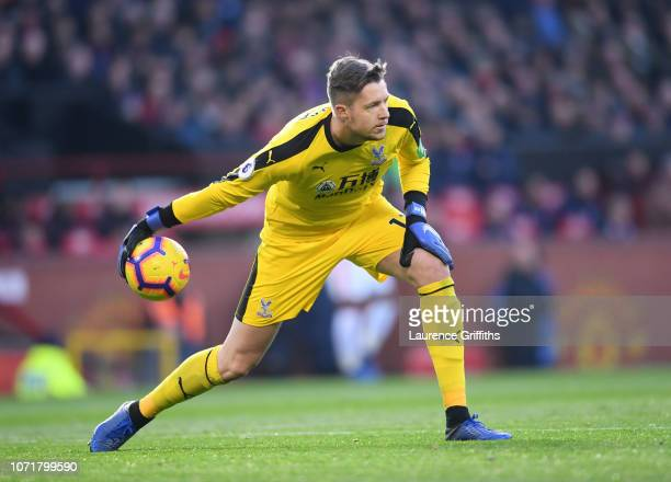 Wayne Hennessey of Crystal Palace in action during the Premier League match between Manchester United and Crystal Palace at Old Trafford on November...