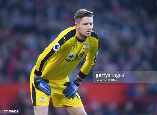 Wayne Hennessey of Crystal Palace looks on during the Premier League match between Manchester United and Crystal Palace at Old Trafford on November...