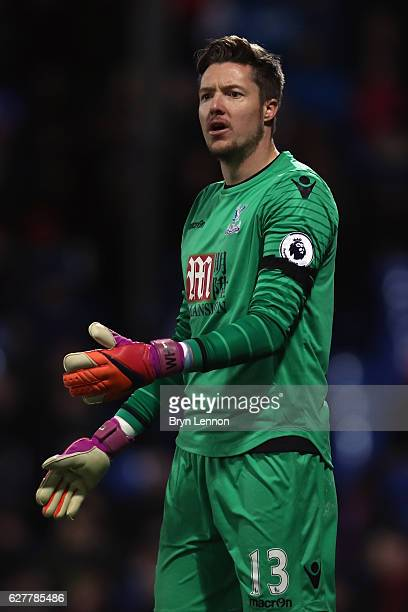Wayne Hennessey of Crystal Palace looks on during the Premier League match between Crystal Palace and Southampton at Selhurst Park on December 3 2016...