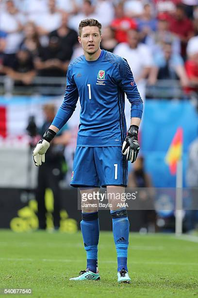 Wayne Hennessey of Wales looks on during the UEFA EURO 2016 Group B match between England v Wales at Stade BollaertDelelis on June 16 2016 in Lens...