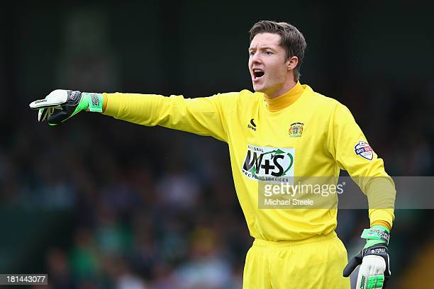 Wayne Hennessey of Yeovil Town during the Sky Bet Championship match between Yeovil Town and Queens Park Rangers at Huish Park on September 21 2013...