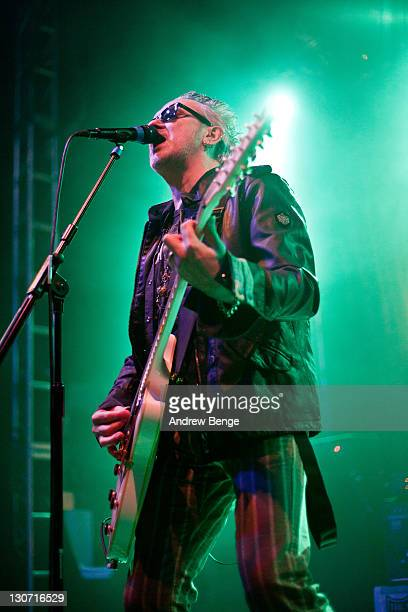 Wayne Hussey of The Mission performs on stage at O2 Academy on October 28 2011 in Leeds United Kingdom