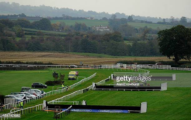 Wayne Hutchinson riding Topthorn clear the third last to win The Bluefin Insurance Solutions Welshpool Handicap Steeple Chase at Ludlow racecourse on...