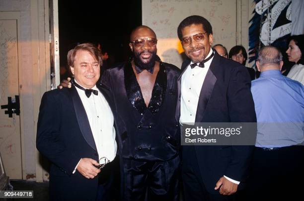 Wayne Jackson of the Memphis Horns Isaac Hayes and Andrew Love of the Memphis Horns at the WC Handy Blues Awards at the Orpheum Theatre in Memphis...