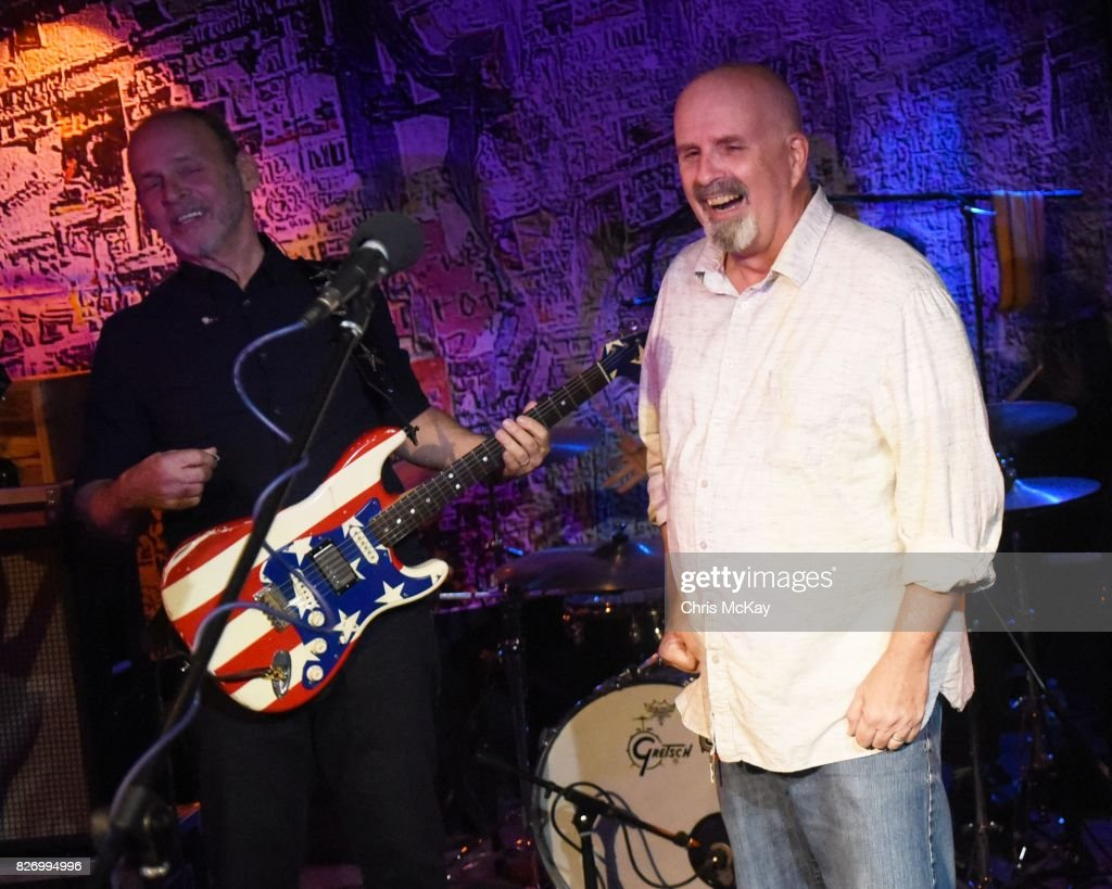 Wayne Kramer and Peter Holsapple perform during the Artist2Artist Benefit For Homeless Veterans at The Office on August 5, 2017 in Athens, Georgia.